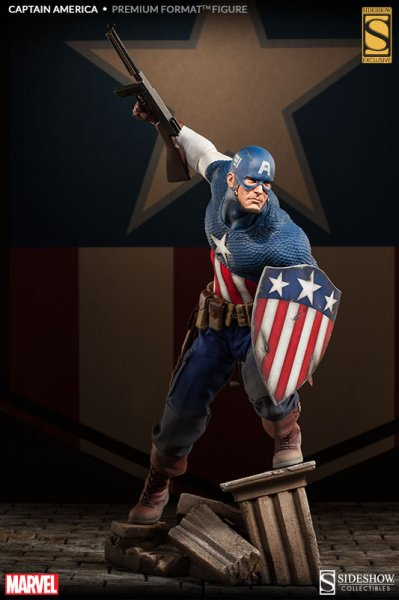 Estátua Capitão América (Captain America) Premium Format - Sideshow Collectibles