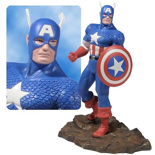 Estátua Capitão América: Marvel Heroes Edição Limitada Escala 1/12 - Corgi