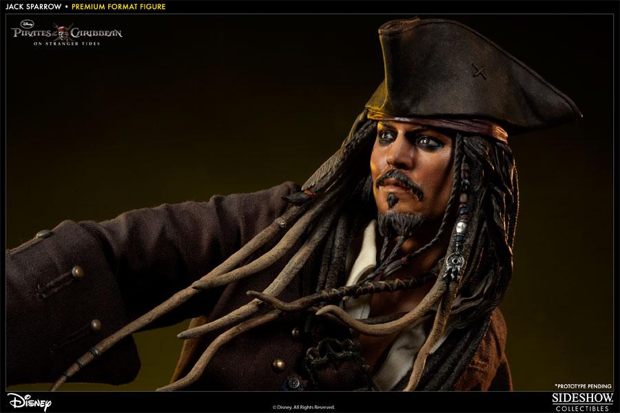 Estátua Capitão (Captain)  Jack Sparrow: Piratas do Caribe (Pirates of the Caribbean) Premium Format Figure (Escala) 1/4  - Sideshow