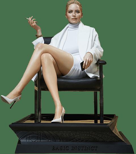 Estátua Catherine Tramell (Sharon Stone): Instinto Selvagem (Basic Instinct) Escala 1/4 - Blitzway (Apenas Venda Online) - Exclusivo Toyshow