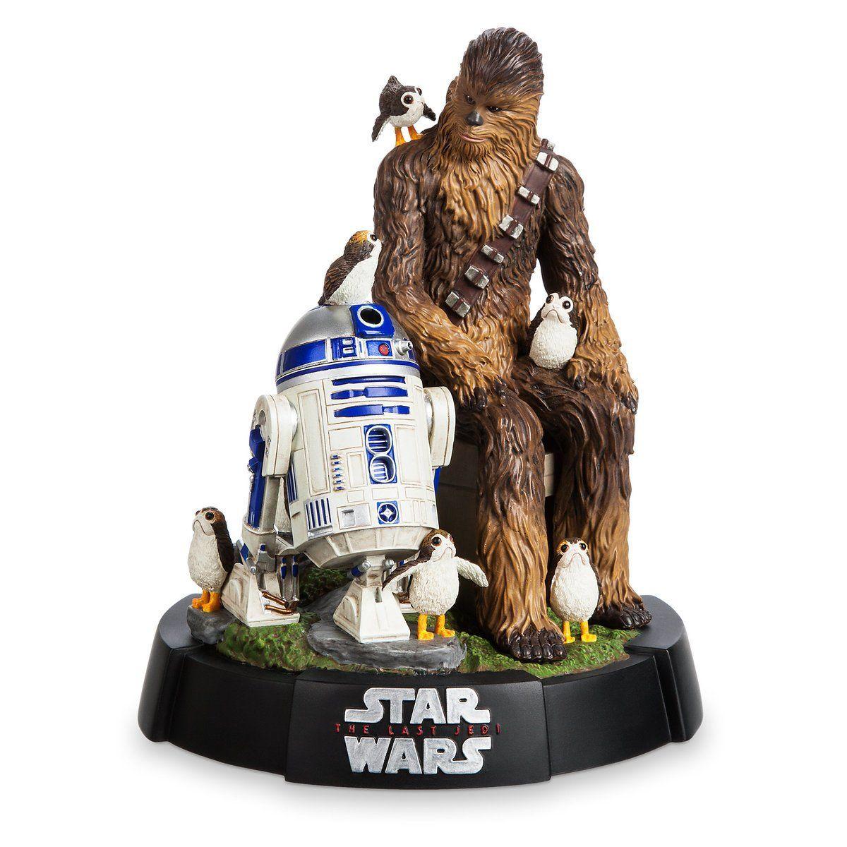 Estátua Chewbacca, R2-D2 & Porgs: Star Wars Os Últimos Jedi (The Last Jedi) - Disney