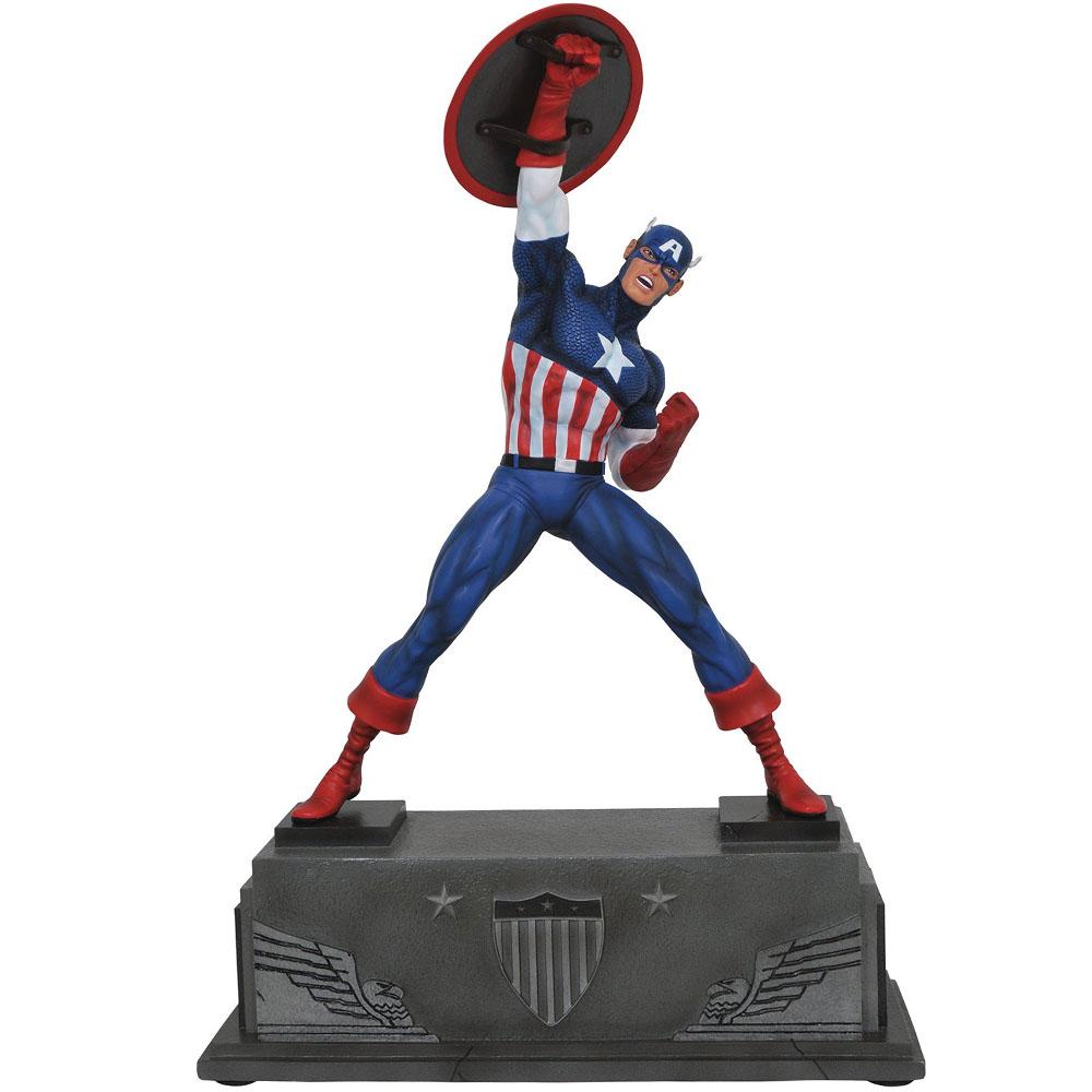 Estátua Colecionável Captain America Marvel Premier Collection Diamond Select Marvel Comics - CD