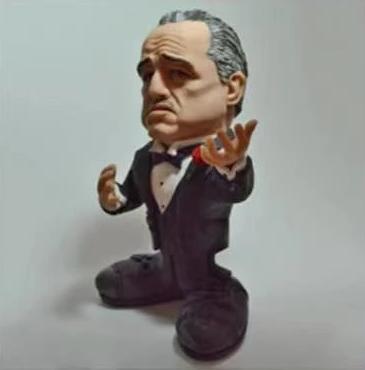 Estátua Colecionável Mini Movie Stars Vito Corleone: O Poderoso Chefão The Godfather - MKP