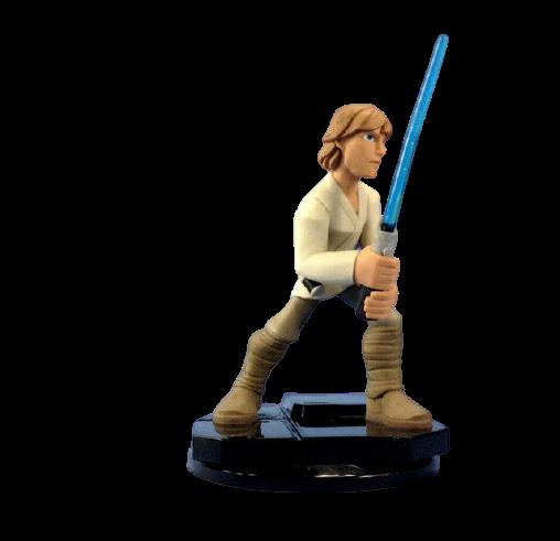Estátua Colecionável Miniatura Luke Skywalker: Star Wars Disney Infinity - EVALI