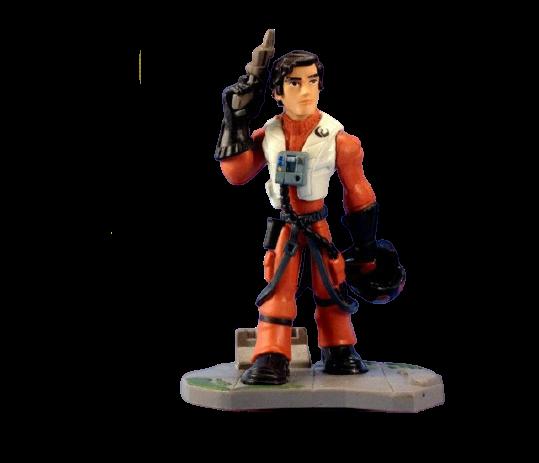 Estátua Colecionável Miniatura Poe Dameron: Star Wars Disney Infinity - EVALI