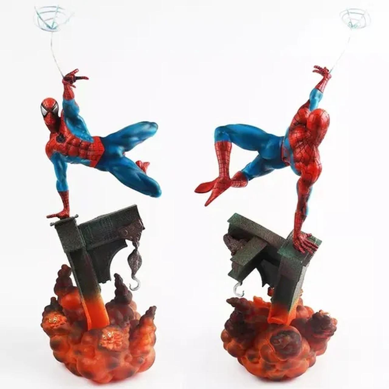 """Estátua Com Led Homem Aranha """"Spider-Man"""" Escala 1/6 - Wise Model"""