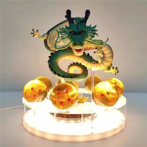 Estátua Com Suporte Luminária Shenlong Esferas do Dragão: Dragon Ball Z