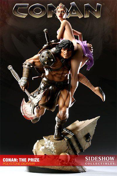 Estátua Conan (The Prize): Conan o Bárbaro (Conan the Barbarian) Diorama - Sideshow - CG