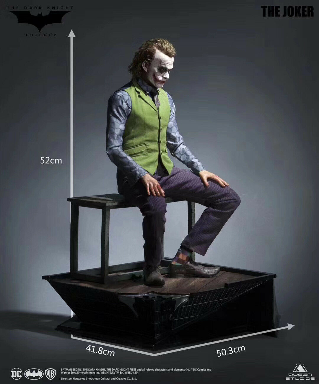 Estátua Coringa Joker: Trilogia O Cavaleiro Das Trevas Batman - Queen Studios