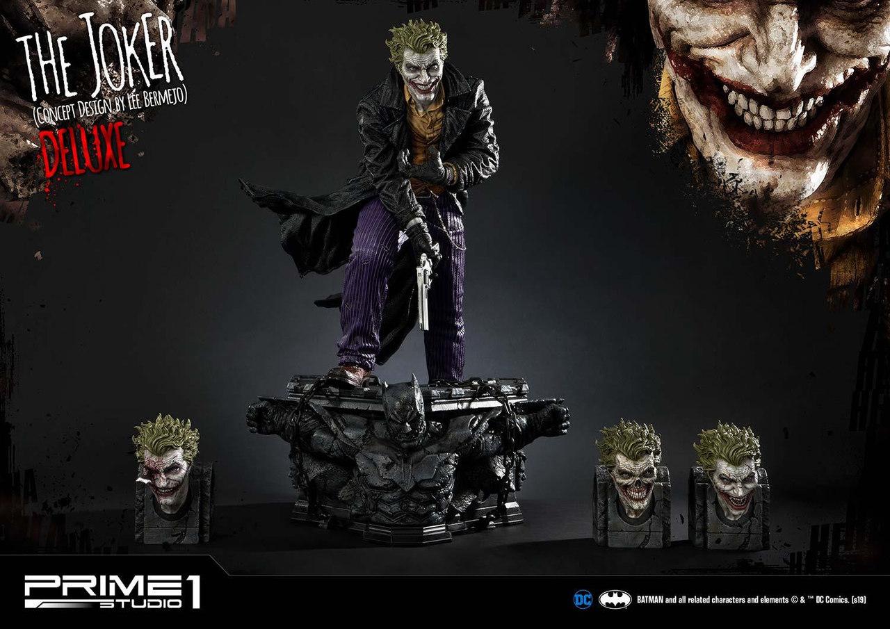 Estátua Coringa The Joker DX (Concept Design by Lee Bermejo): Dc Comics Escala 1/3 - Prime 1 Studios - EV