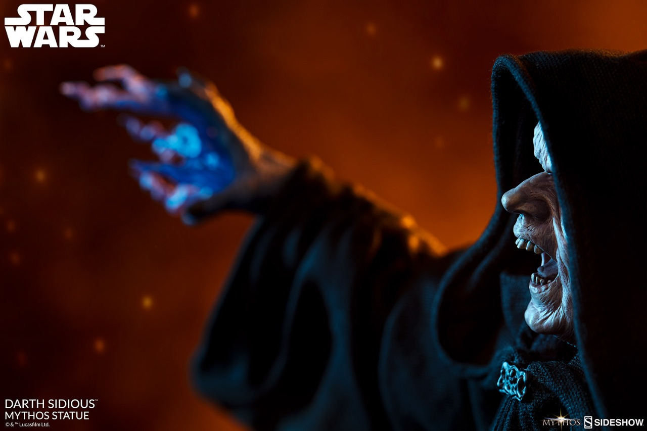 Estátua Darth Sidious Mythos Imperador Palpatine: Star Wars - SideShow Collectibles - EV