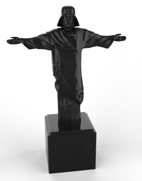 Estátua Darth The Redeemer (Preto)