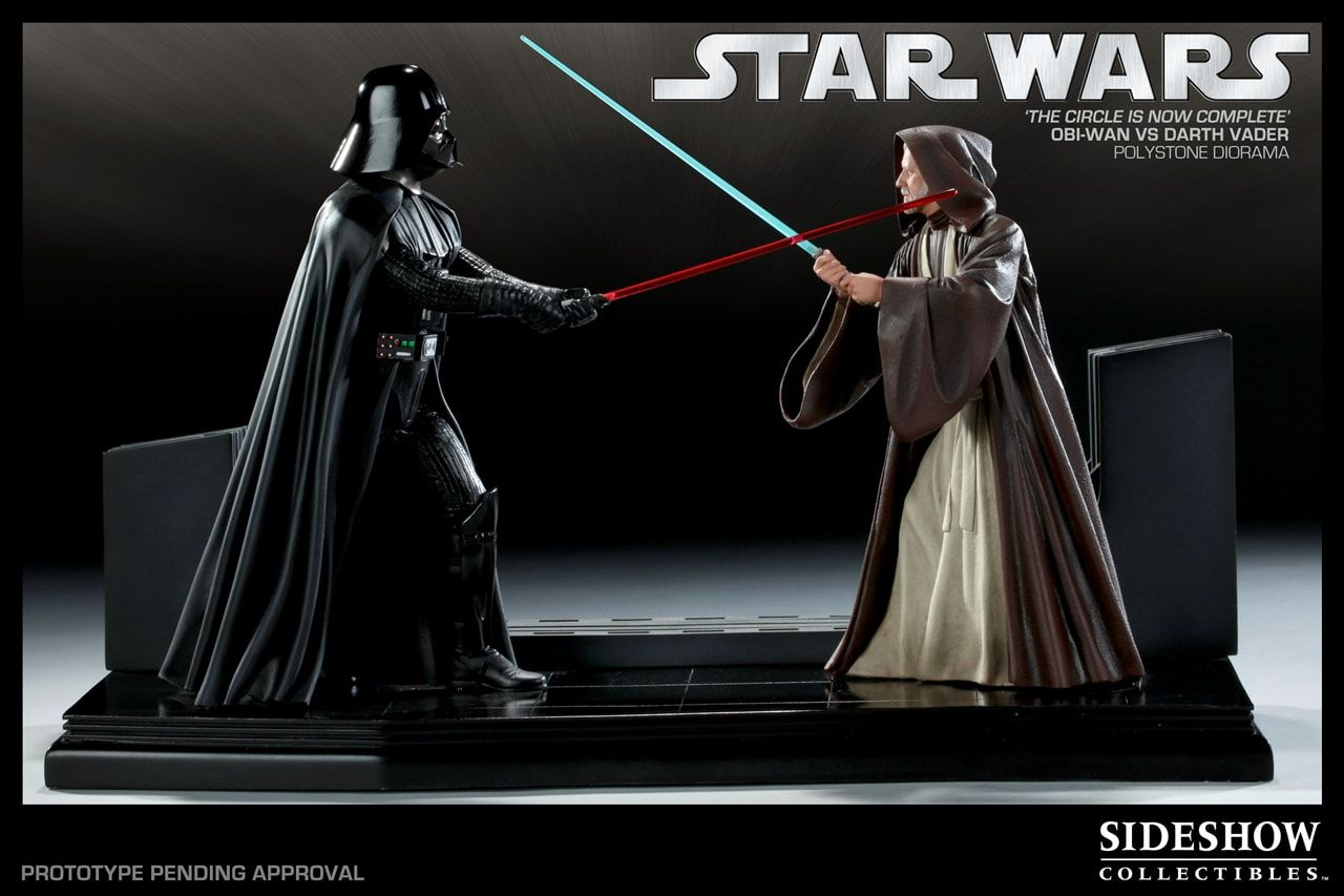 Estátua Darth Vader vs Obi Wan (Diorama): Star Wars (The Circle is Now Complete) - Sideshow