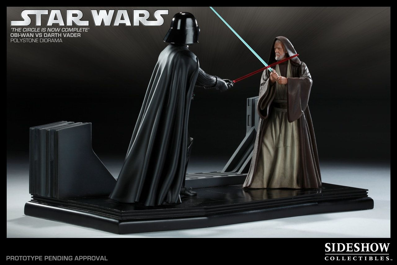 Estátua Darth Vader vs Obi Wan (Diorama): Star Wars (The Circle is Now Complete) - Sideshow