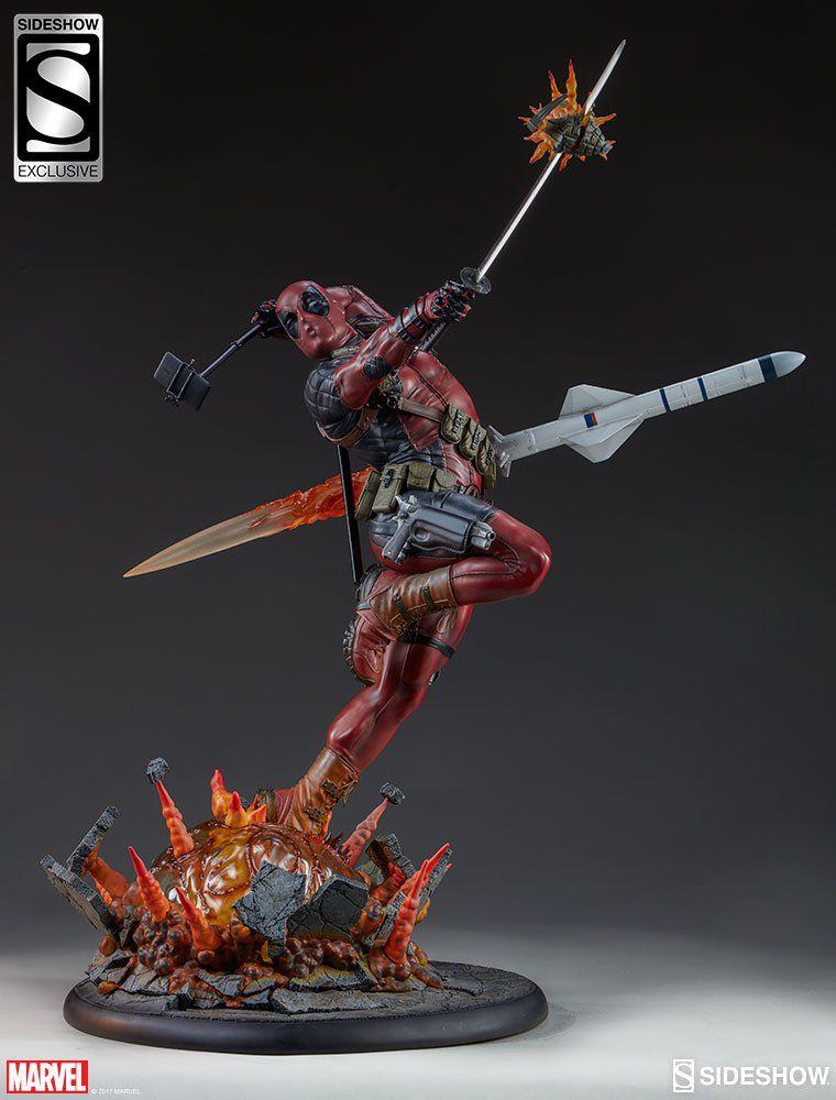 Estátua Deadpool (Heat-Seeker): Marvel (Premium Format) Exclusive - Sideshow