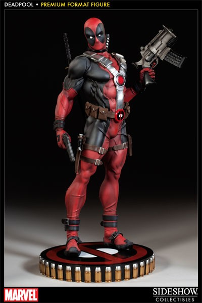 Estátua Deadpool Mercenário Tagarela Marvel Comic Escala 1/4  Format Premium - Sideshow Collectible