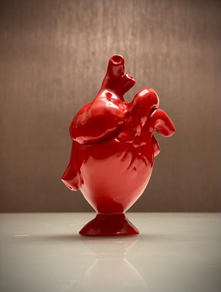 Estátua Decorativa Coração Vermelho Heart Red 15cm
