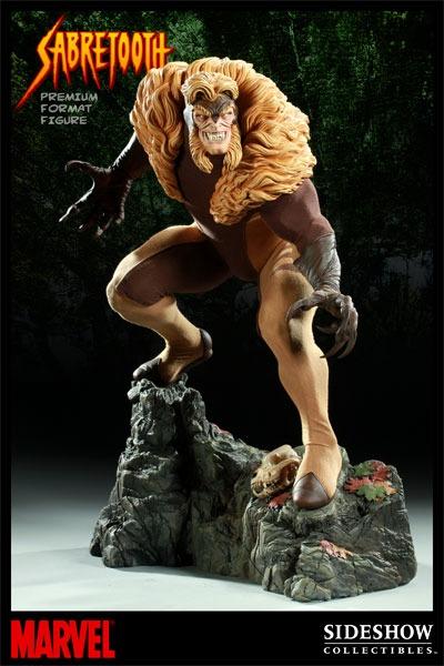 Estátua Dente de Sabre Sabretooth Marvel Comics Escala 1/4 Format Premium  - Sideshow Collectible - CD