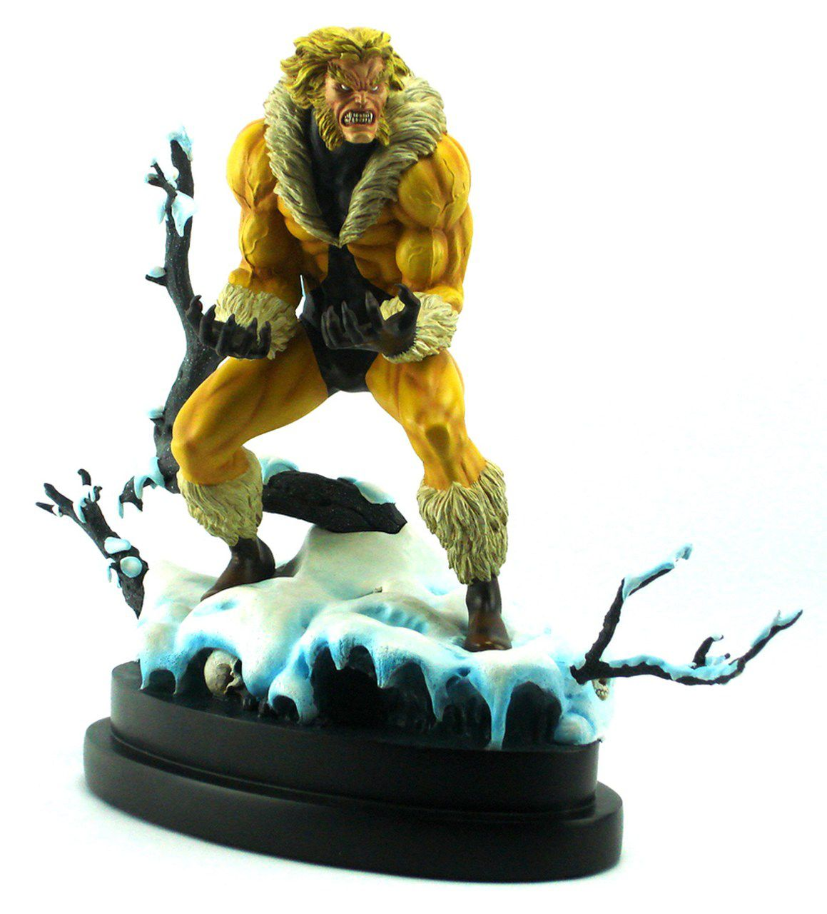 Estátua Dentes-de-Sabre (Sabretooth): Marvel Comics (Painted Statue) - Bowen Designs