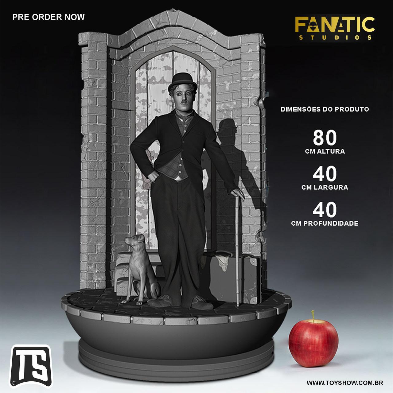 Estátua Diorama Charles Chaplin Escala 1/4 Prime  Legendary Edition - Fanatic Studios - EV