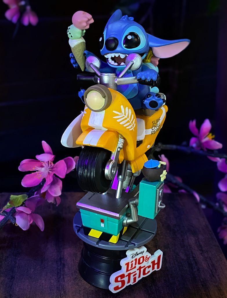 Estátua Diorama Stitch Moto Lambreta Coin Rider: Lilo & Stitch Disney DS041 D-Stage - Beast Kingdom