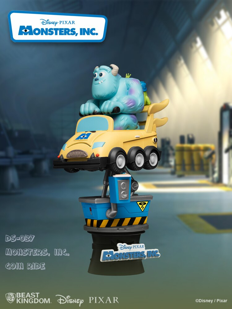 Estátua Diorama Sulley e Mike Wazowski: Monsters INC. Coin Ride Disney - Beast Kingdom