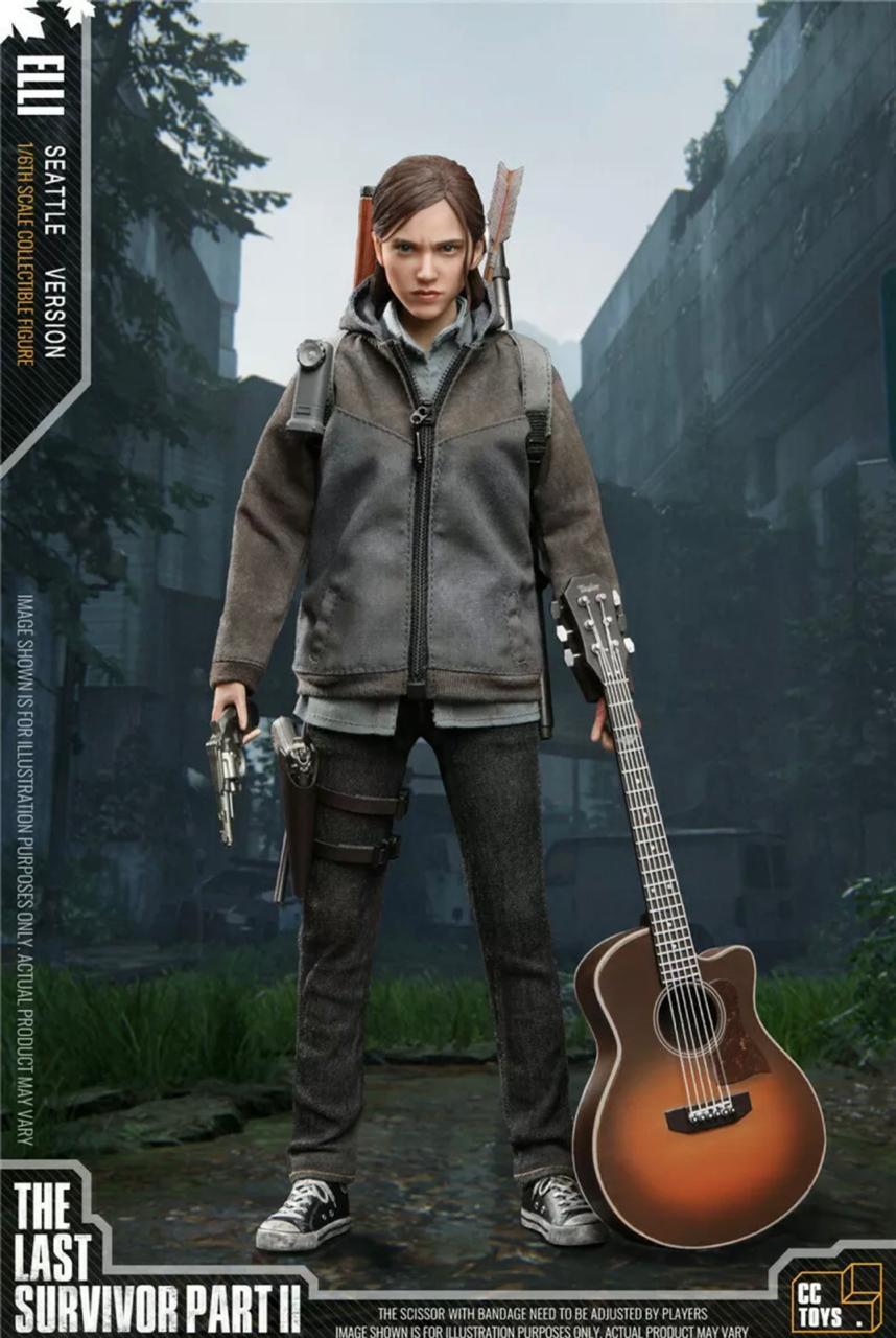 PRÉ VENDA: Action Figure Elli: The Last Survivor Part II The Last Of Us Part II Escala 1/6 - CC Toys