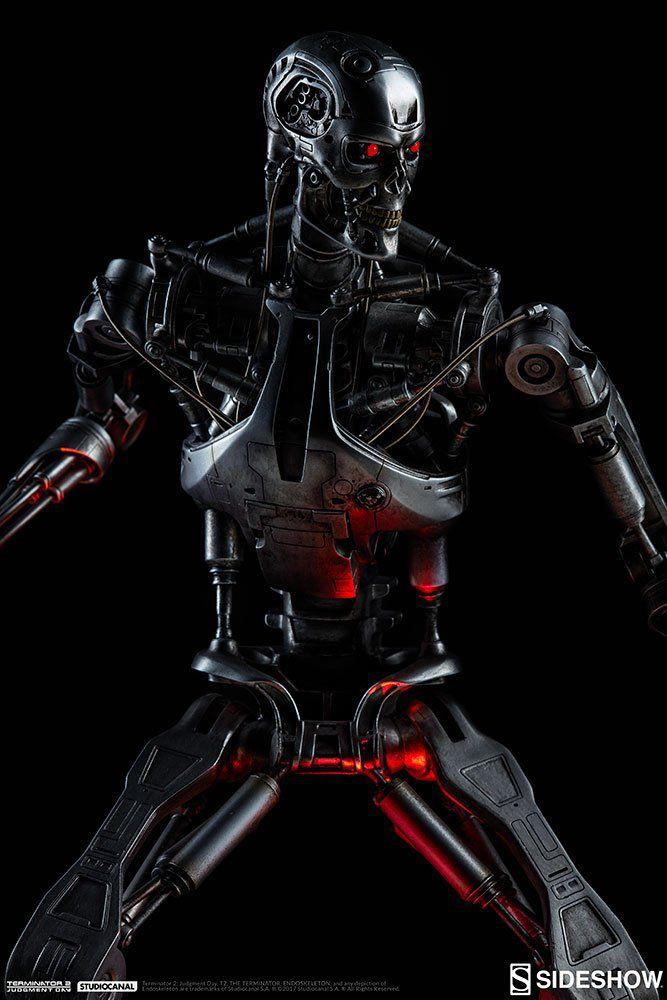 Estátua Endosqueleto T-800: Exterminador do Futuro - Sideshow (Maquette) - CD