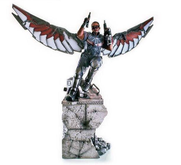 Estátua Falcão (Falcon): Capitão América: Guerra Civil Legacy Réplica Escala 1/4 - Iron Studios - CD