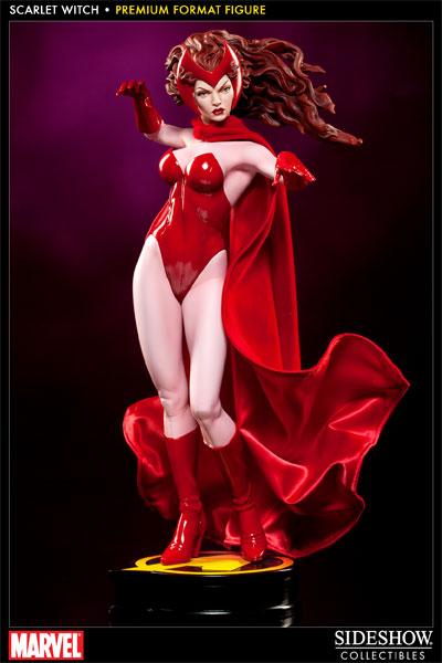 Estátua Feiticeira Escarlate Scarlet Witch Premium Format Regular Escala 1/4  - Sideshow Collectible - CD