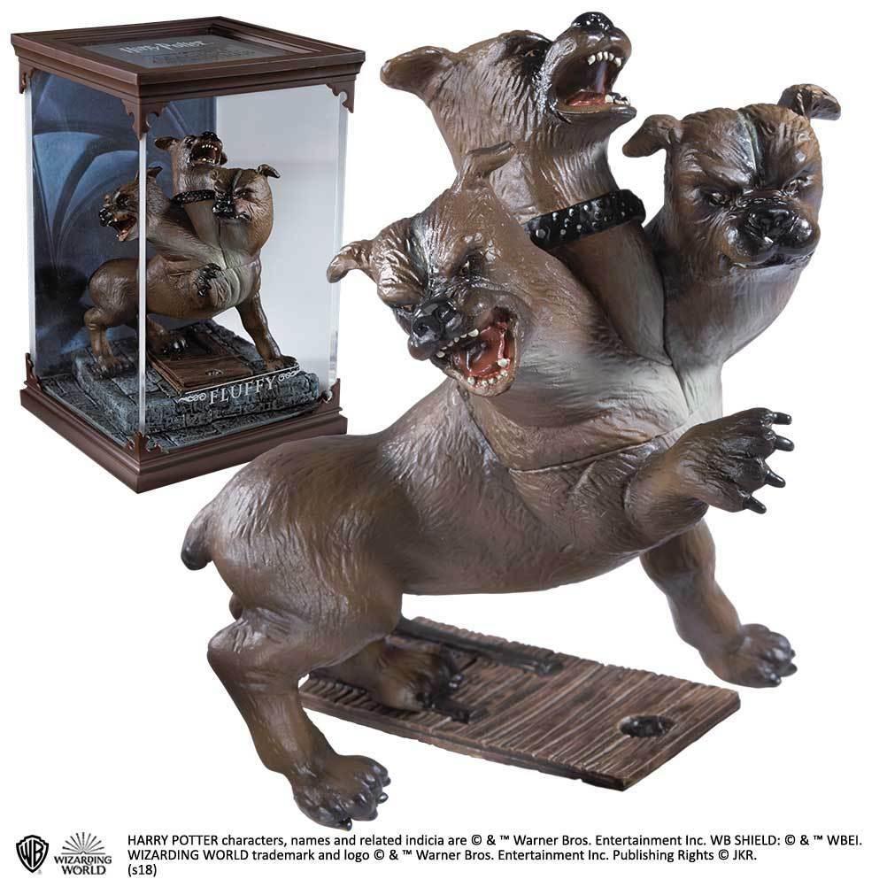 Estátua Fofo(Fluffy): Harry Potter Criaturas Mágicas (Magical Creatures) - Noble Collection
