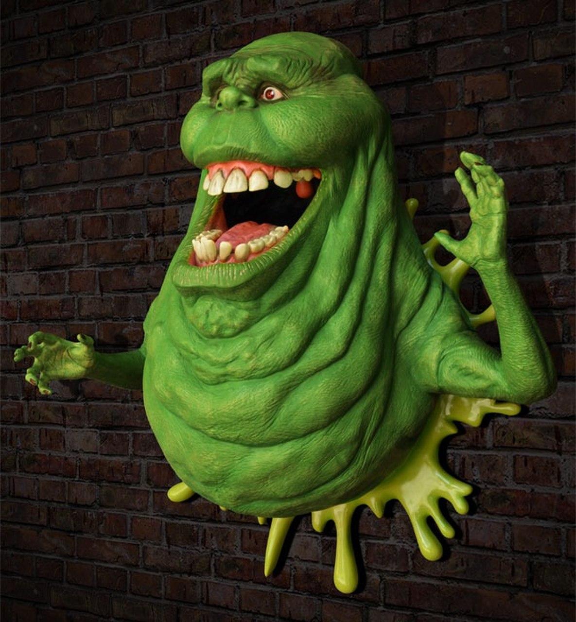 Estátua Geleia (Slimer): Os Caça-Fantasmas (Ghostbusters) Life-Size (Escala 1/1) - EV