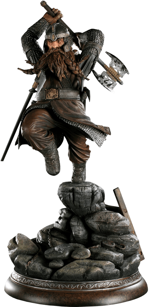 Estátua Gimli: O Senhor dos Anéis (The Lord of the Rings) - Sideshow - CG