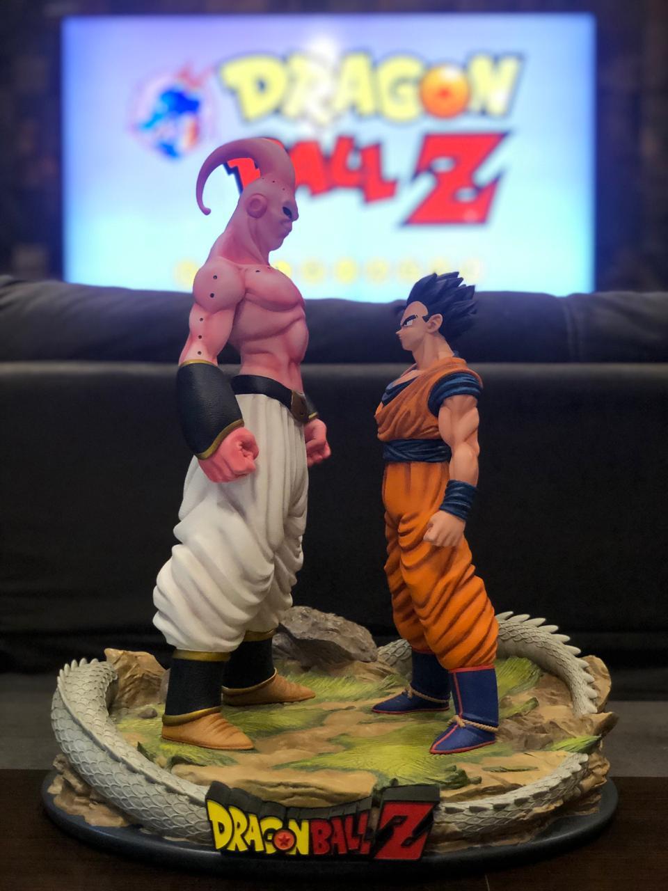Estátua Gohan e Majin Boo Dragon Ball Z