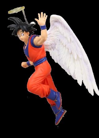 Estátua Goku com Asas de Anjos: Dragon Ball