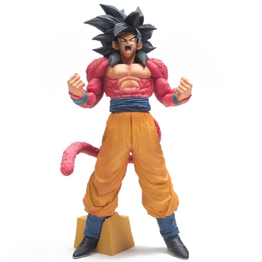 Estátua Son Goku Super Saiyan 4 The Brush Super Master Star Piece: Dragon Ball GT Anime Mangá - Banpresto Bandai