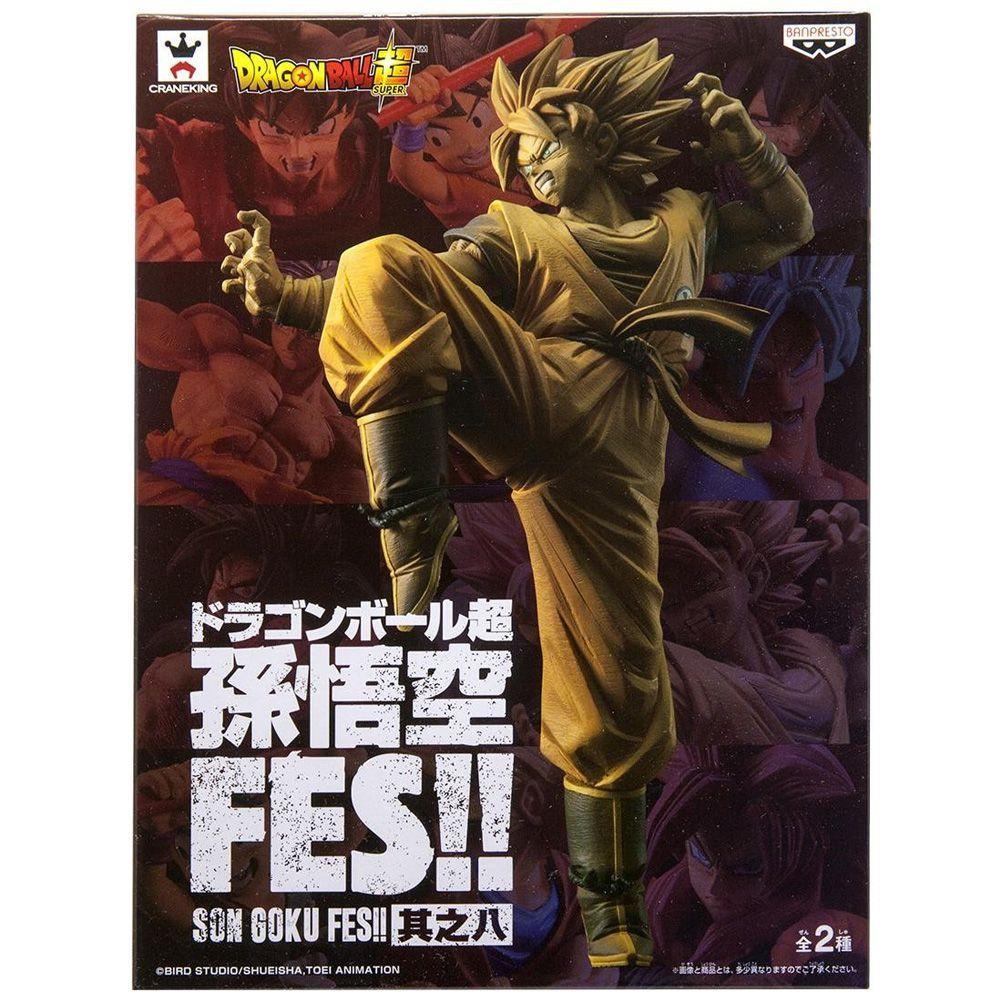 Estátua Goku Super Saiyajin Dourado (Fes Vol 8): Dragon Ball Super - Banpresto