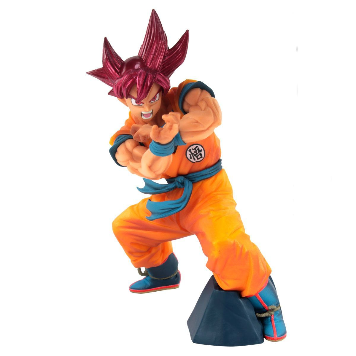 Estátua Goku Super Saiyajin God: Dragon Ball Super (Blood of Saiyans Special VI) Anime Mangá - Banpresto Bandai