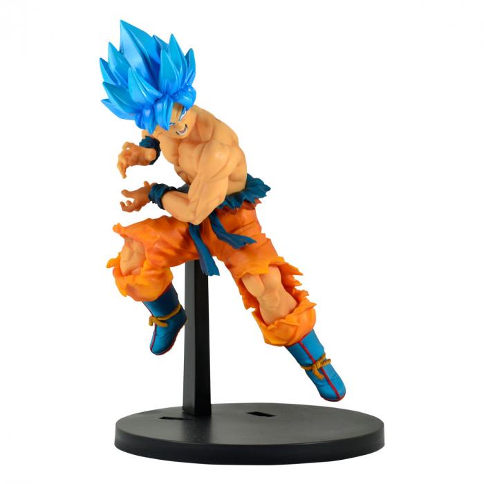 Estátua Goku Super Sayajin Blue: Dragon Ball Super Broly Tag Fighters Anime Mangá - Banpresto Bandai