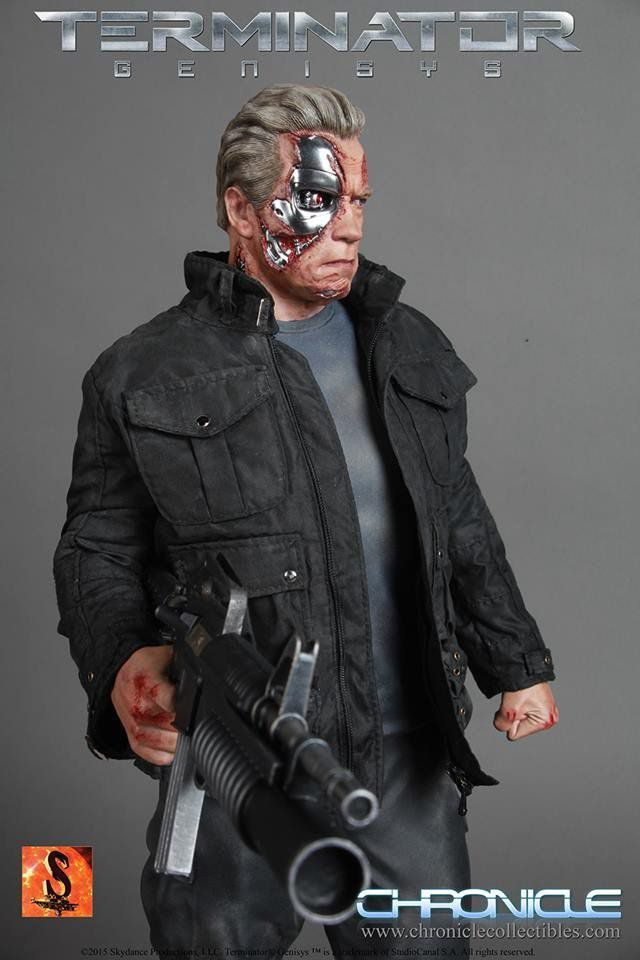 Estátua Guardian T-800: O Exterminador do Futuro: Gênesis (Terminator Genisys) Escala 1/4 - Chronicle Collectibles - CD