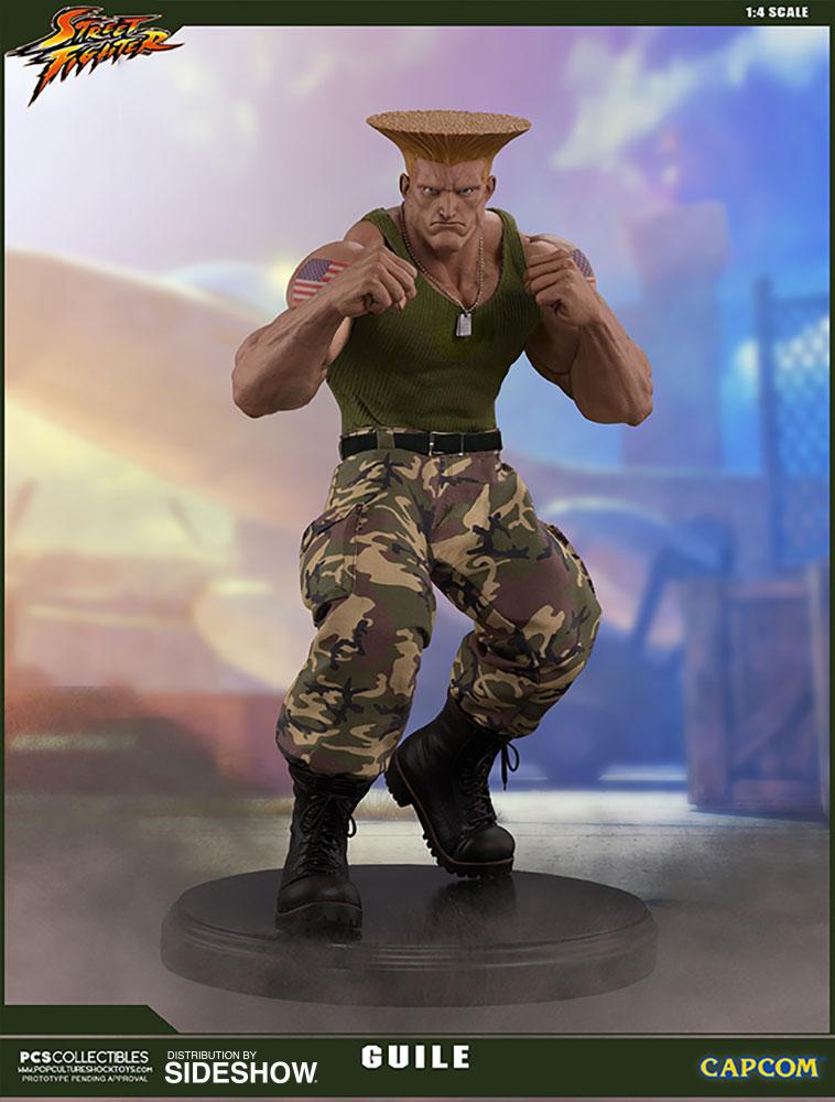 Estátua Guile Street Fighter Normal Edition Escala 1/4 - Pop Culture Shock - EV