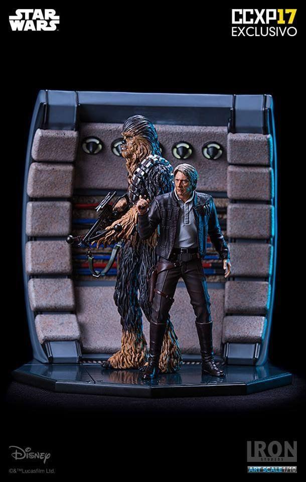 Estátua Han Solo & Chewbacca Deluxe 1/10 (Exclusivo CCXP 2017): Star Wars  - Iron Studios