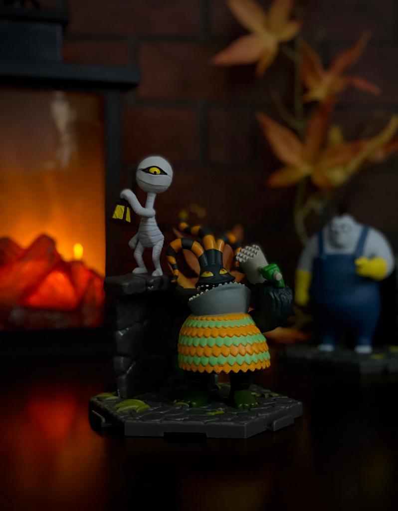 Estátua HarleQuin Demon e Mummy Boy 017: O Estranho Mundo de Jack The Nightmare Before Christmas - Sunny