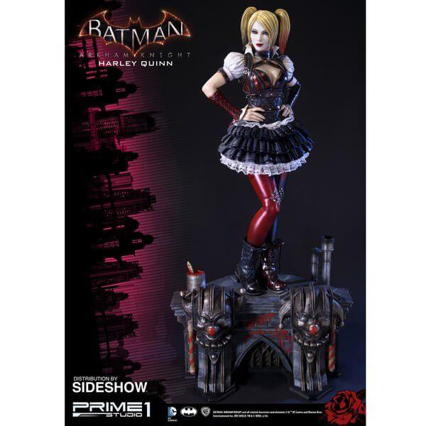 Estátua Harley Quinn: Batman Arkhan Knight (Prime) DC Comics - Sideshow Collectibles - CD
