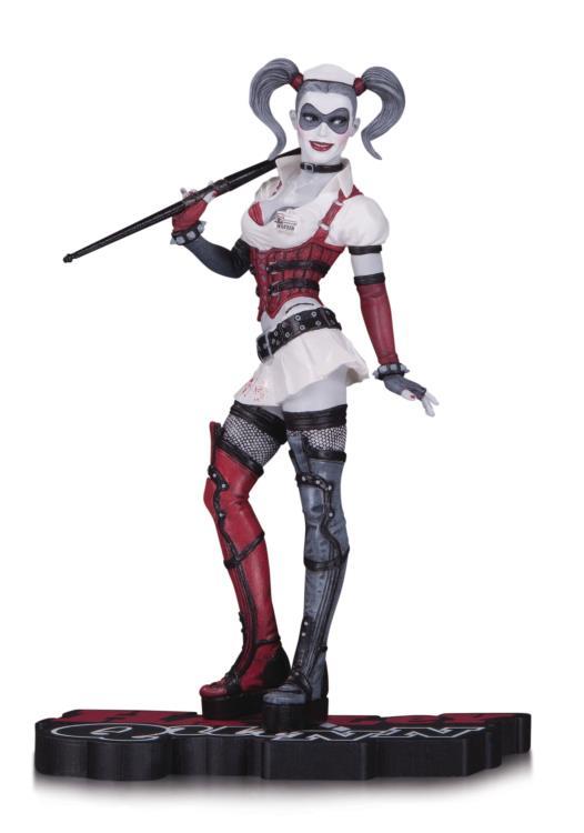 Estátua Harley Quinn Red, White and Black: Batman: Arkham Asylum DC Comics - DC Collectibles