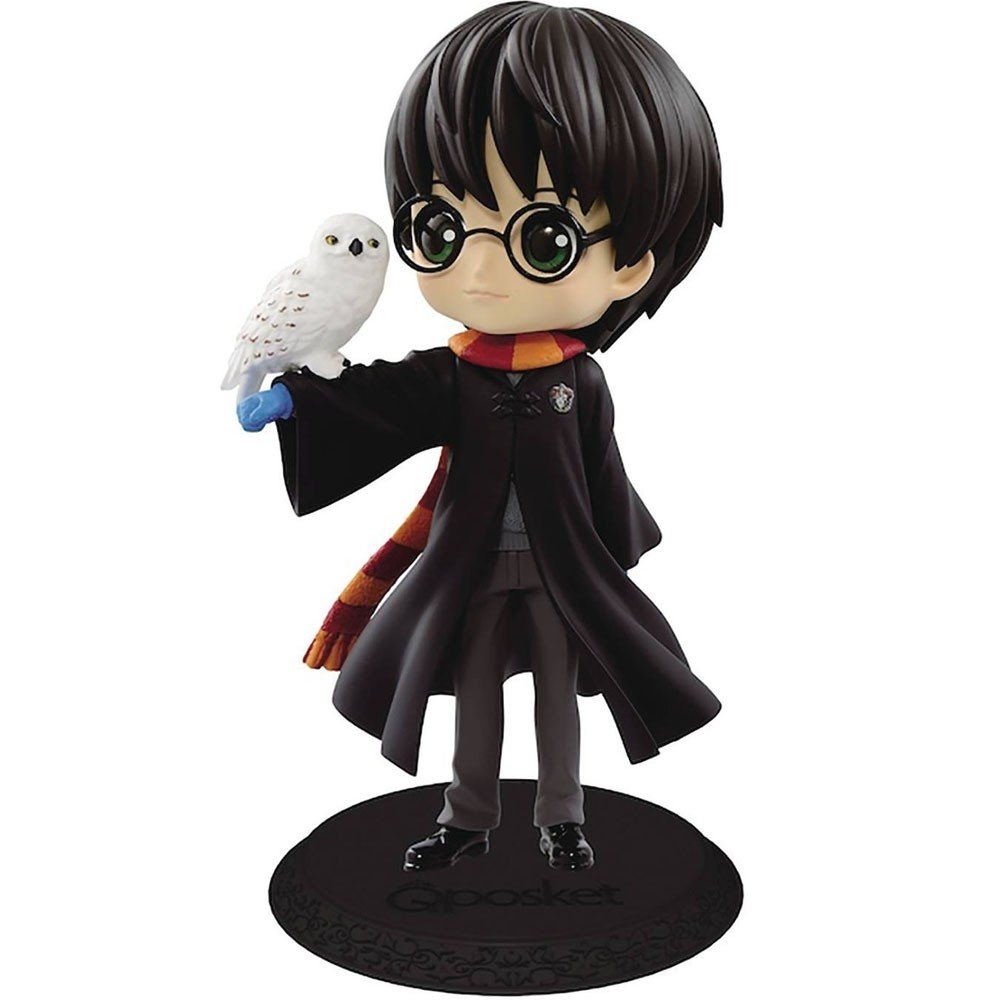 Estátua Harry Potter Com Edwiges Qposket: Harry Potter - Banpresto