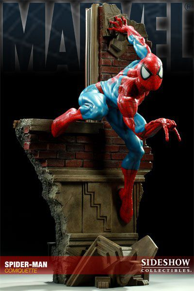 Estátua Homem-Aranha Spider-Man Marvel Comics Comiquette  - Sideshow Collectible  - CD