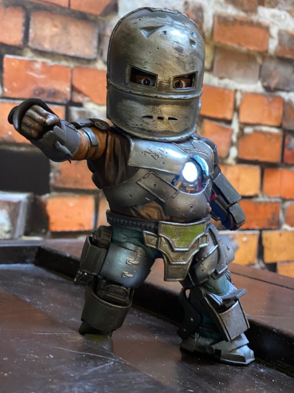 Estátua Homem De Ferro Iron Man Mark 1 Tony Stark Com Led - Marvel Comics