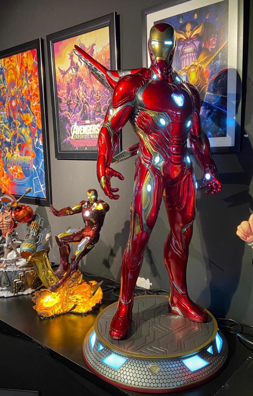 Estátua Homem de Ferro Iron Man Mark 50  Infinity War Guerra Infinita Escala 1/2 Marvel Comics - Sideshow Collectibles