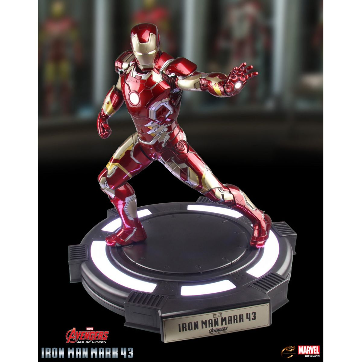 Estátua Homem de Ferro (Iron Man) Mark XLIII: Vingadores: Era de Ultron Escala 1/3 - Cinemaquette - CD